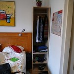 good wardrobe space (each side of bed)