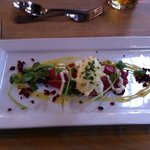 beet root infused Salmon starter