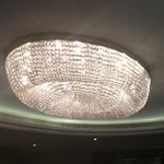 one of the chandiliers at the Hilton Park