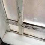 Mouldy window frame