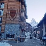 View on hotel and Matterhorn