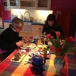 Not rushing over breakfast - at The Manse, Plockton.