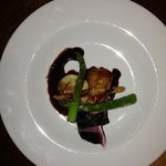 pork fillet with black pudding and mash