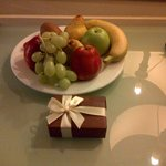 Fruit Bowl and Chocolates in Room