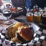 Ortega Burger and Beer Sampler