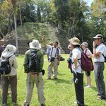 Eric and our group at the Caracol ruins