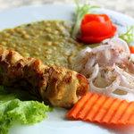 Chicken Bokhara Kebab chana daal and butter naan