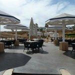 Prestige private beach dining area