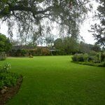 The wonderful garden with the main house