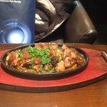 el pollo con verduras