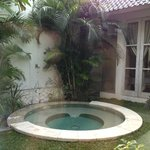 Jacuzzi in your own private villa courtyard
