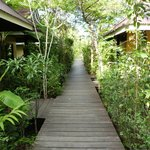 Walkway outside bungalows
