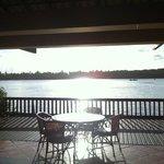 lindo por do sol no Bar do Canal!