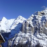 Eiger, Monch, Jungfrau from my room