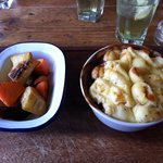 Steak & Ale pie with Mustard mash and vegetables
