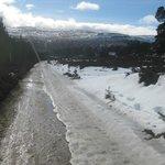 Glen Lui trail still icy in parts
