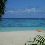 View from the beach bungalow