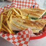 Steak Sandwich with french fries