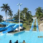 waterslides, one was closed down