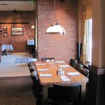 The Grand Table offers views of Downtown Greeley and a great setting for a larger party.