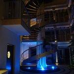 In side stairway in lobb
