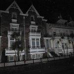 half of hotel  at night