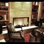 Fireplace at lobby lounge