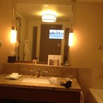 Bath and mirror with TV