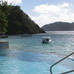 Infinity pool and beautiful sea