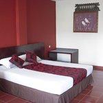 スーペリアルームのベッド
