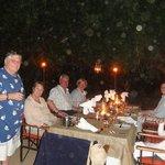 Bush dinner with our ranger/tracker group