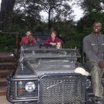 Tracker Albert on our Land Rover with our solo drive evening