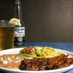Carne Asada: served with fresh home made corn tortillas