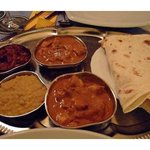 Thali platter - a mix sample of curries