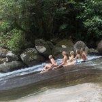 Rock Sliding at Josephine Falls