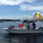 Rent your own boat with your friends and ejoy a fun time out on the water!