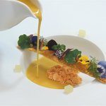 Butternut Squash Veloute, Powdered Chorizo