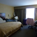 Our room with King size bed