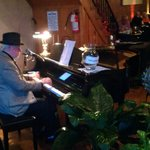 The pianist at Memories & More