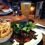 Juicy burger, freshly prepared