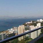вид с балкона ресторана отеля
