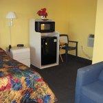 Room 108 - Fridge, microwave