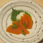 Dried mullet roe with daikon