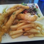 another fantastic lunch of flathead,chips and salad