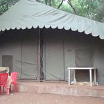 tent room near the pool