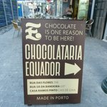 Entry sign outside the Chocolateria door