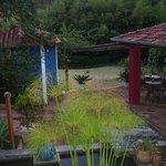 Vue du jardin de l'hôtel