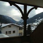 Vista delle Dolomiti dalla camera