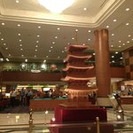 nice pagoda in the middle of lobby.... standing