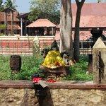 Goddess @ temple entrance opposite to main side
